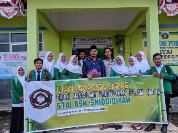 Mahasiswa Stai Ash-Shiddiqiyah Semester VII Jalani Ujian Proposal Skripsi