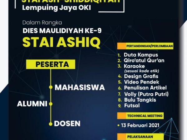 Gebyar Dies Maulidiyah Ke-IX STAI Ash-Shiddiqiyah: Berikut Adalah Daftar Lomba Untuk Para Dosen, Mahasiswa dan Alumni