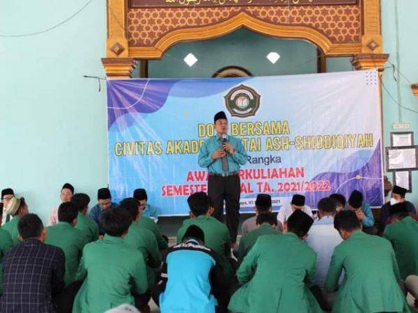Menyambut Awal Perkuliahan Semester Gasal Tahun Akademik 2021/2022, STAI Ash-Shiddiqiyah gelar Doa Bersama.