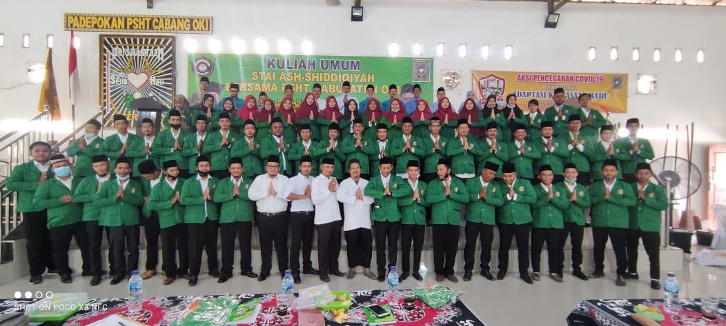 Jalin Kerja Sama, STAI Ash-Shiddiqiyah Adakan Kuliah Umum Bersama PSHT Kabupaten OKI