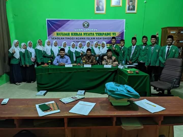 Mahasiswa Semester VII STAI Ash- Shiddiqiyah Jalani Sidang Laporan KKN