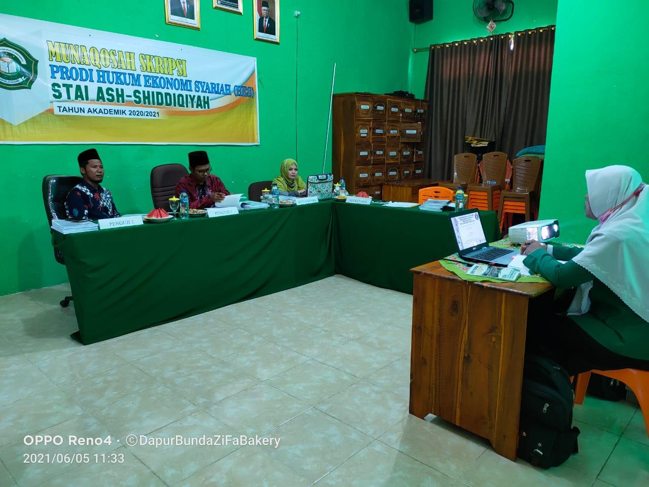 STAI Ash-Shiddiqiyah Laksanakan Ujian Skripsi Tahun Akademik 2020/2021